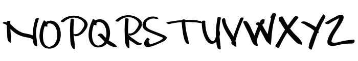 Hello Briandd Font UPPERCASE