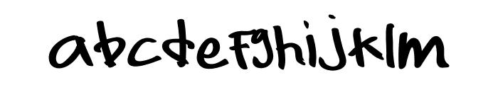 Hello Briandd Font LOWERCASE