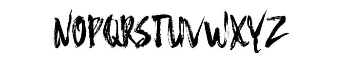 Hello Brush Font UPPERCASE