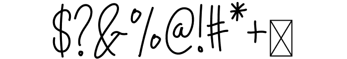 Hello Mellow Font OTHER CHARS