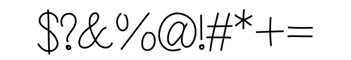 Hello Mini Font OTHER CHARS