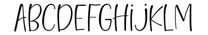 HelloBlushberrySansRegular Font LOWERCASE