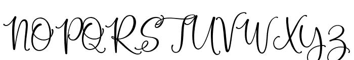 HelloBlushberryScript Font UPPERCASE