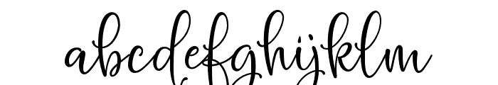 HelloBlushberryScript Font LOWERCASE