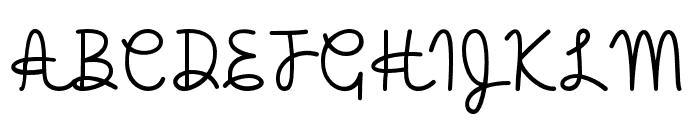 HelloHeartache Font UPPERCASE