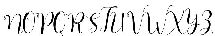 HelloJasmine Font UPPERCASE