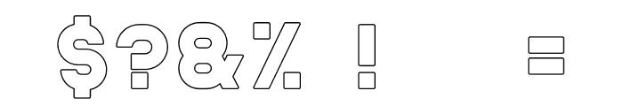 Helton Outline Font OTHER CHARS