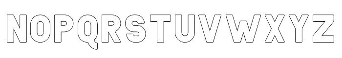 Helton Outline Font LOWERCASE