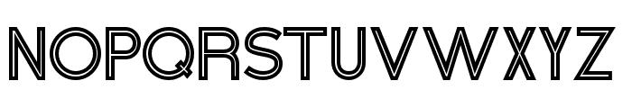HeneraleOutline Font UPPERCASE