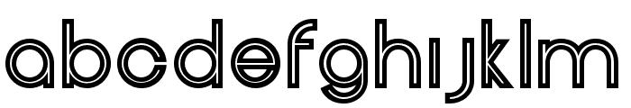 HeneraleOutline Font LOWERCASE