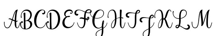 Hening script Regular Font UPPERCASE