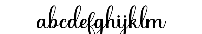 Hening script Regular Font LOWERCASE