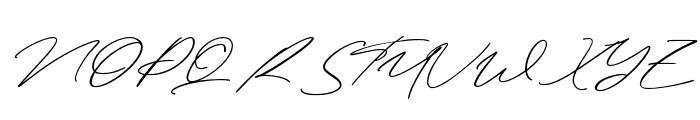 Henriette Signature Font UPPERCASE