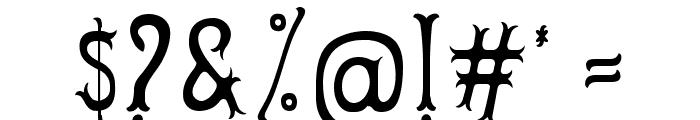 Herbert Lemuel Bold Shadow Font OTHER CHARS