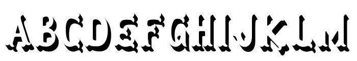 Herbert Lemuel Bold Shadow Font UPPERCASE