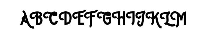 Hipsterletter Font UPPERCASE