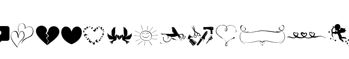 HistoryLoveEXTRAS Font LOWERCASE