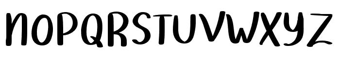 Homework-Regular Font UPPERCASE