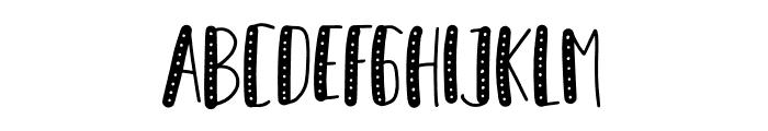 Honey Taste Dot Font UPPERCASE