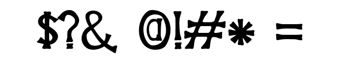 HouseofGlory Font OTHER CHARS