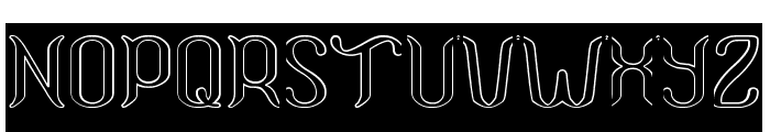 Humaira Aruna Jasmine-Hollow-In Font UPPERCASE