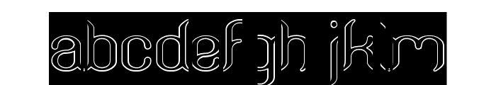 Humaira Aruna Jasmine-Hollow-In Font LOWERCASE