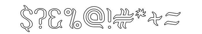 Humaira Aruna Jasmine-Hollow Font OTHER CHARS