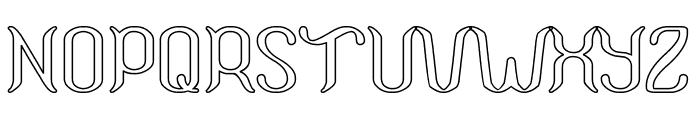 Humaira Aruna Jasmine-Hollow Font UPPERCASE