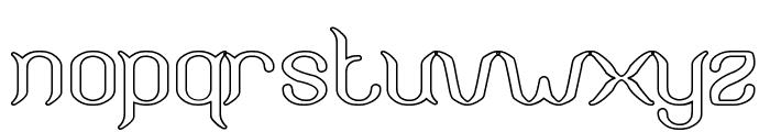 Humaira Aruna Jasmine-Hollow Font LOWERCASE