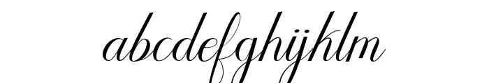 Humilderegular Font LOWERCASE