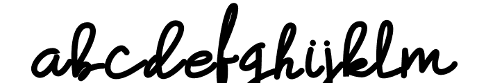 Hummingbird Bold Font LOWERCASE