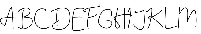Hummingbird Light Font UPPERCASE