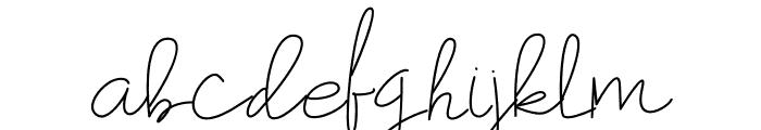 Hummingbird Light Font LOWERCASE
