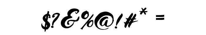 HustyBrush Font OTHER CHARS