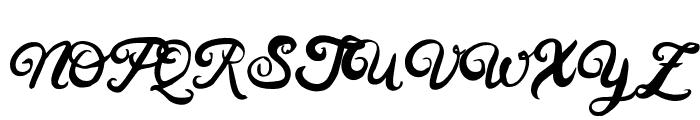 HustyBrush Font UPPERCASE