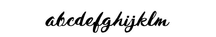 HustyBrush Font LOWERCASE
