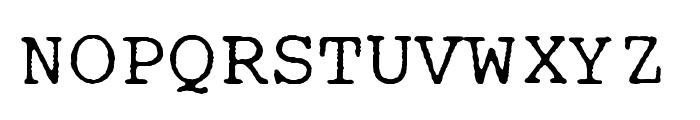 IBM Selectric Courier Regular Font UPPERCASE