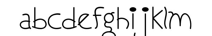 ILoveYouMonkey Font LOWERCASE