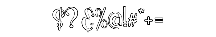 Ikan Salmon Outline Font OTHER CHARS