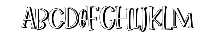 Ikan Salmon Shadow Font UPPERCASE