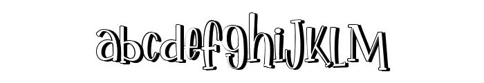 Ikan Salmon Shadow Font LOWERCASE