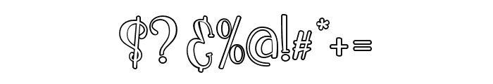 IkanSalmon-Outline Font OTHER CHARS