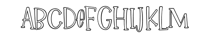 IkanSalmon-Outline Font UPPERCASE