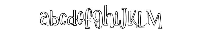 IkanSalmon-Outline Font LOWERCASE