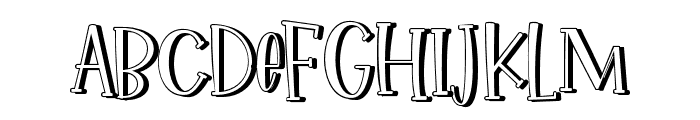 IkanSalmon-Shadow Font UPPERCASE