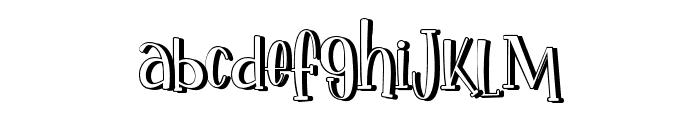 IkanSalmon-Shadow Font LOWERCASE