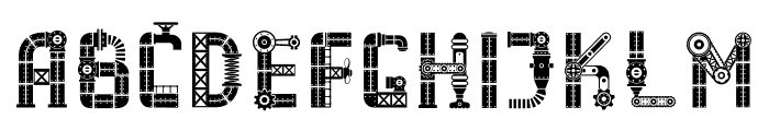 Industry Mania Font UPPERCASE