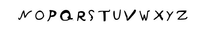 Inky Blots Regular Font UPPERCASE