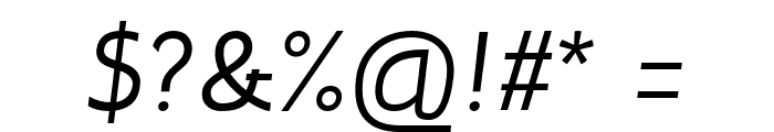 Inprimis-Italic Font OTHER CHARS