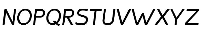 Inprimis Medium Italic Font UPPERCASE